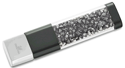 Флешка USB Swarovski, Цвет: Anthracite / Silver Night